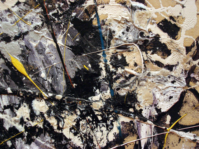 """Detail of Jackson Pollock's """"Number 1A"""" (1948) at MoMA (photograph by Sergio Calleja, via Flickr)"""