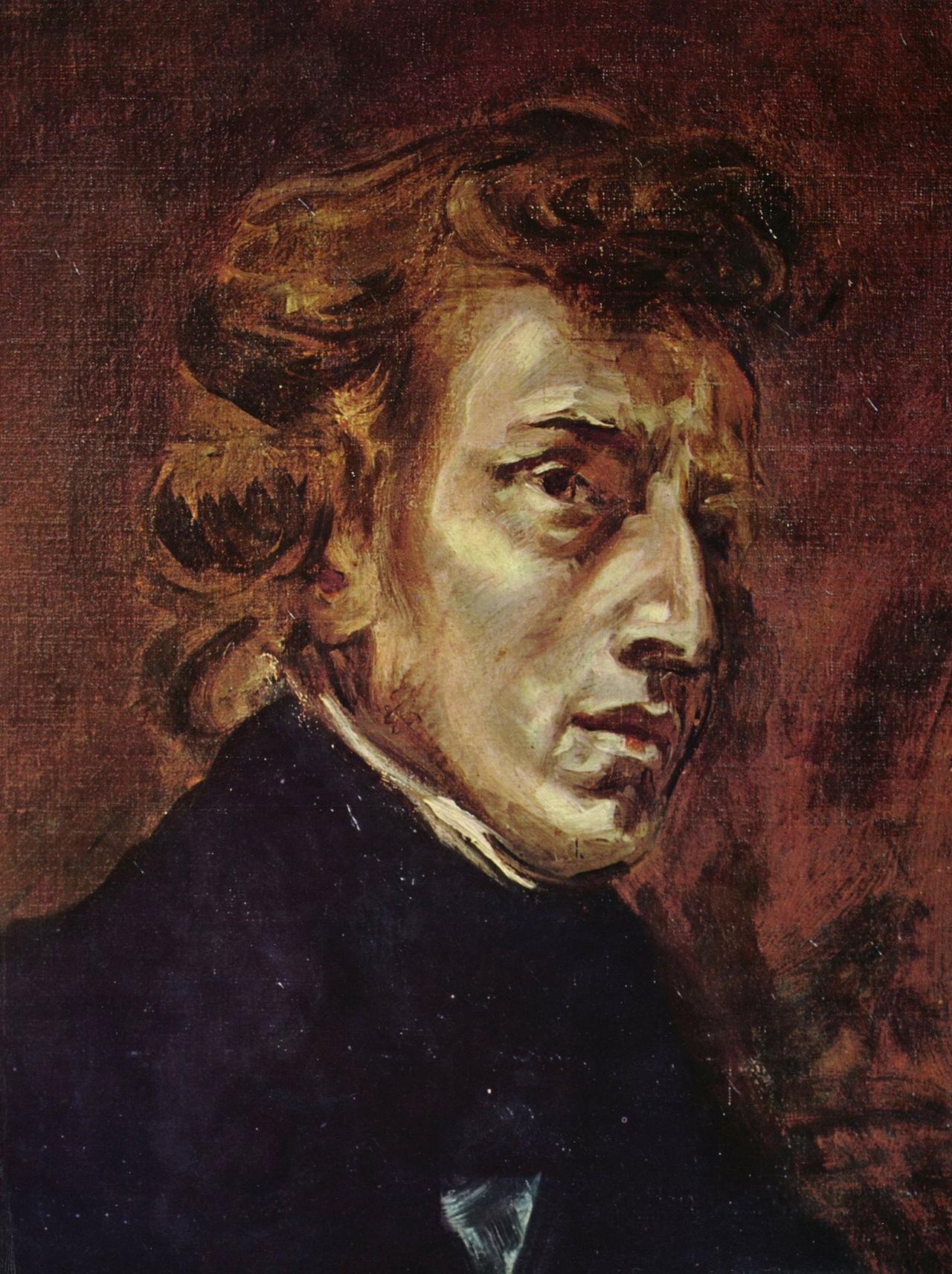 Delacroix's portrait of Frédéric Chopin (Image via Wikimedia)