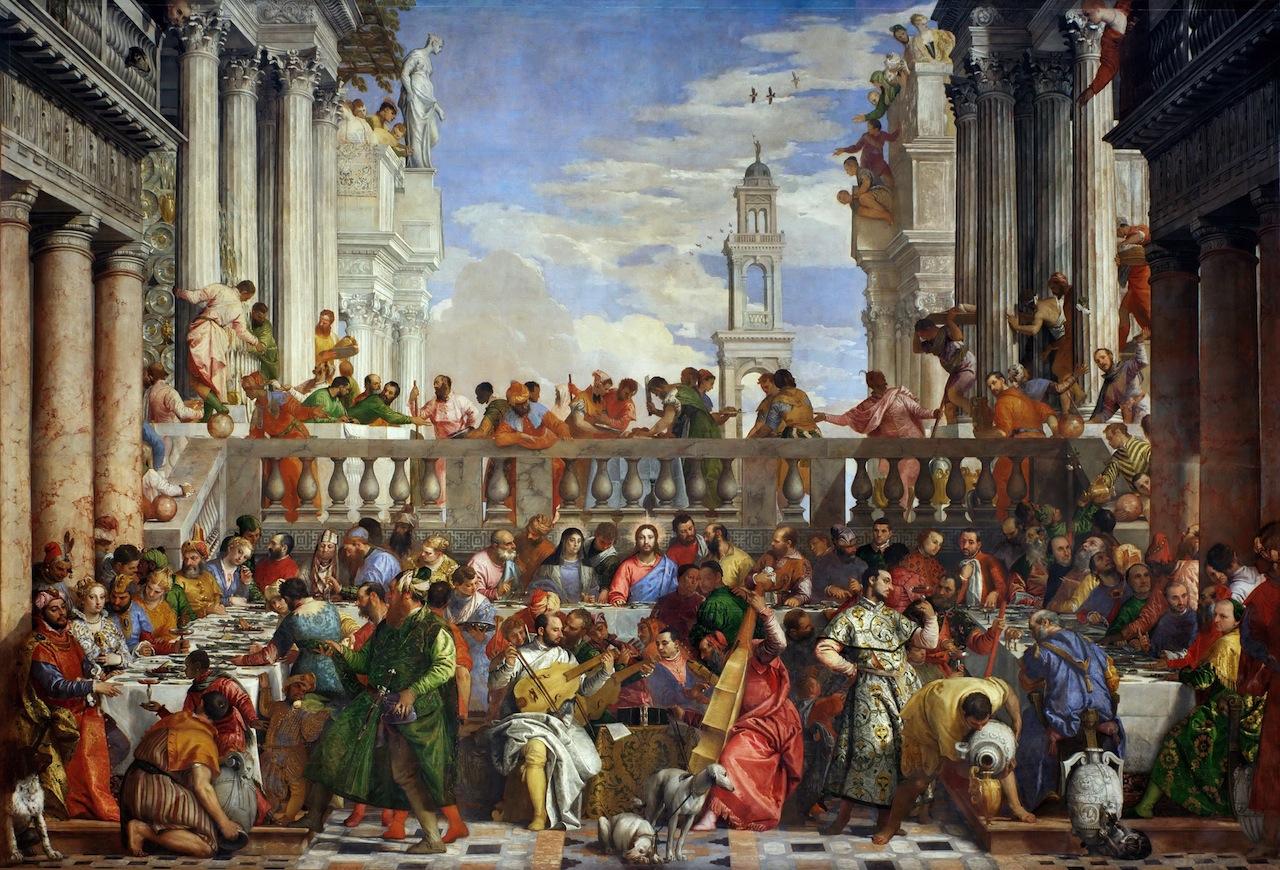 "Paolo Veronese, ""Wedding Feast at Cana"" (1563) (Image via Wikimedia)"