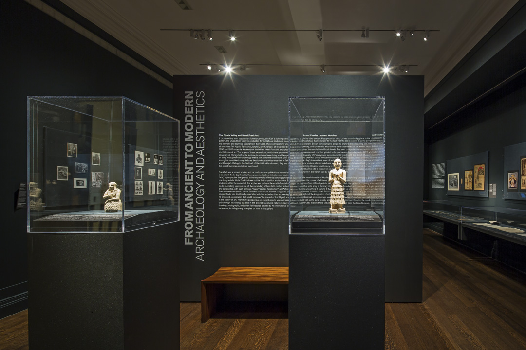 Installation view of 'From Ancient to Modern: Archaeology and Aesthetics' (courtesy Institute for the Study of the Ancient World)