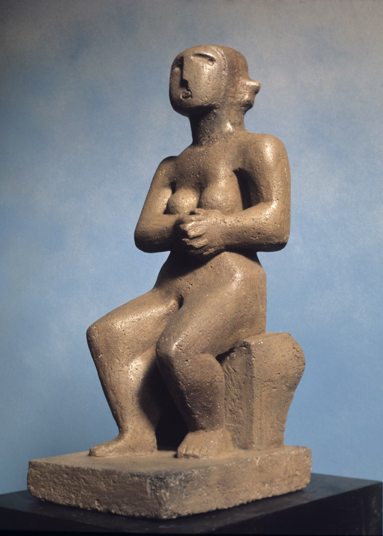 """Henry Moore, """"Seated Figure"""" (courtesy Institute for the Study of the Ancient World)"""