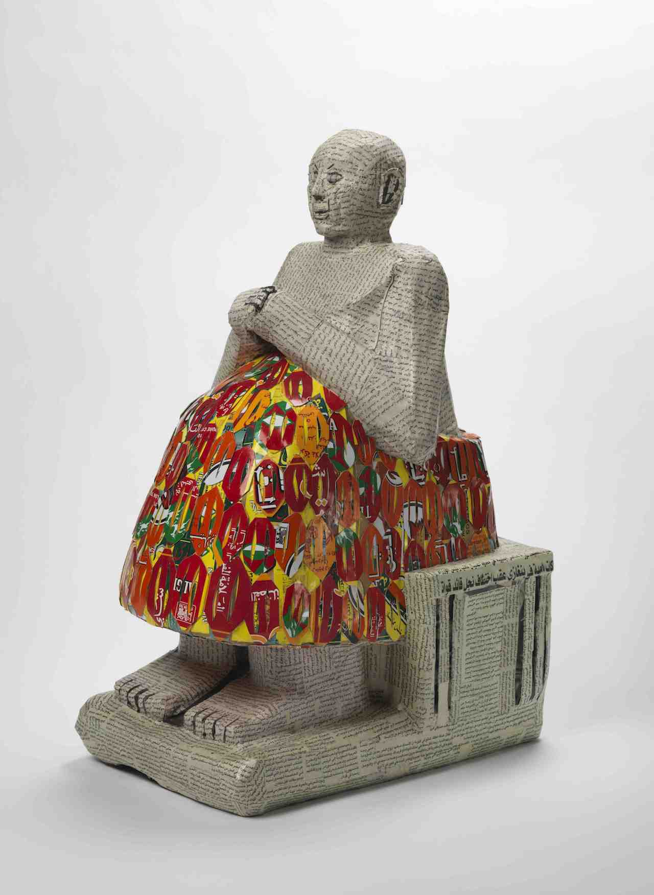 Rakowitz, Seated Statue of the Scribe Dudu (courtesy Institute for the Study of the Ancient World)