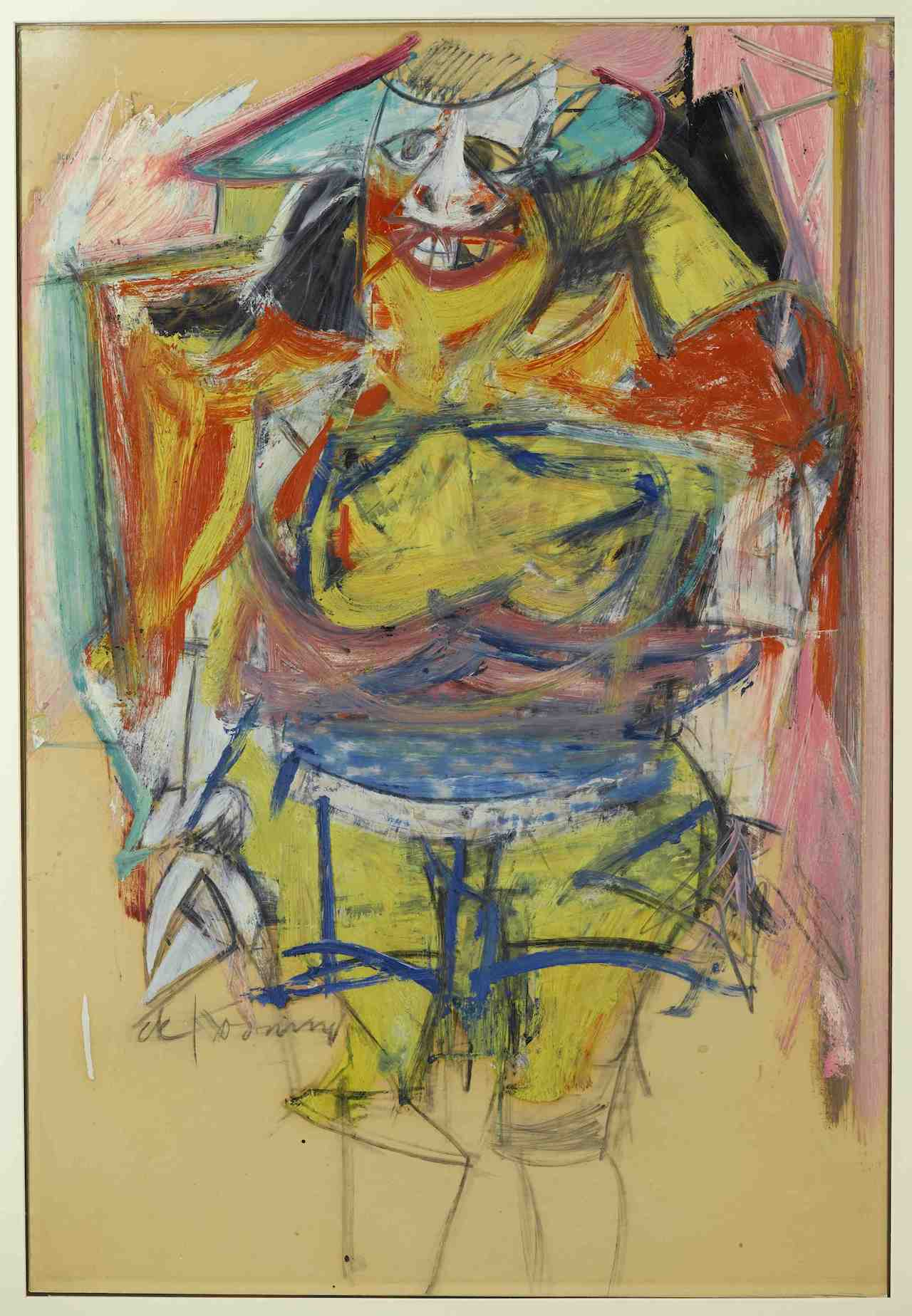 """Willem de Kooning, """"Woman"""" (courtesy Institute for the Study of the Ancient World)"""
