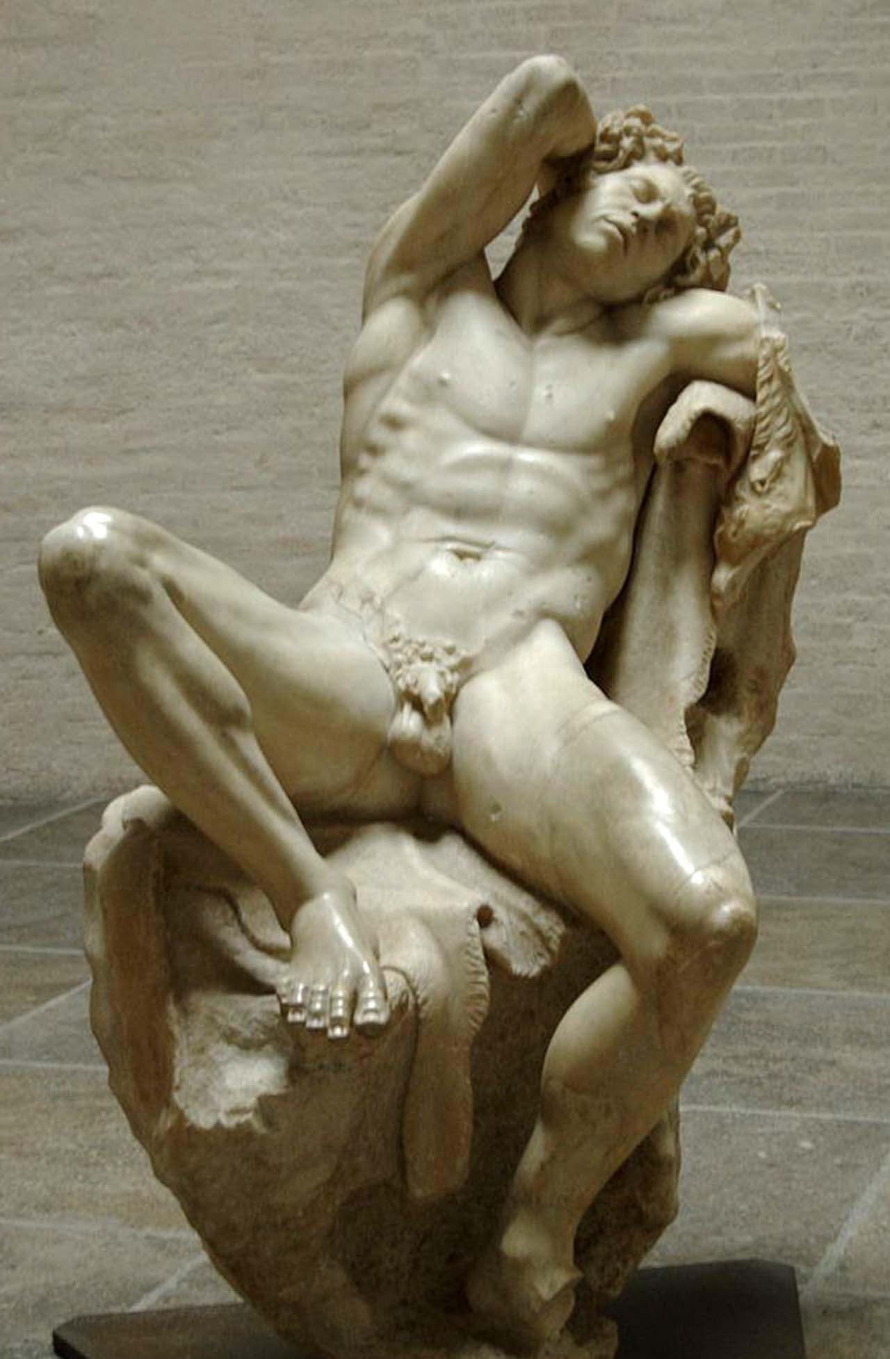 """Barberini Faun"" from the Glyptothek, Munich (photo from Wikipedia)"