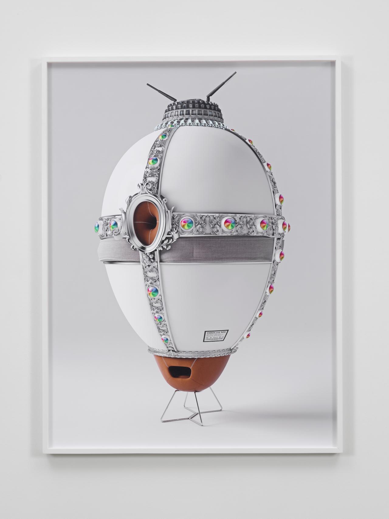 "Jonathan Monaghan, ""Rothschild's WiFi"" (2014), inkjet print Hahnemühle photo luster mounted on dibond, 57 x 43 in"
