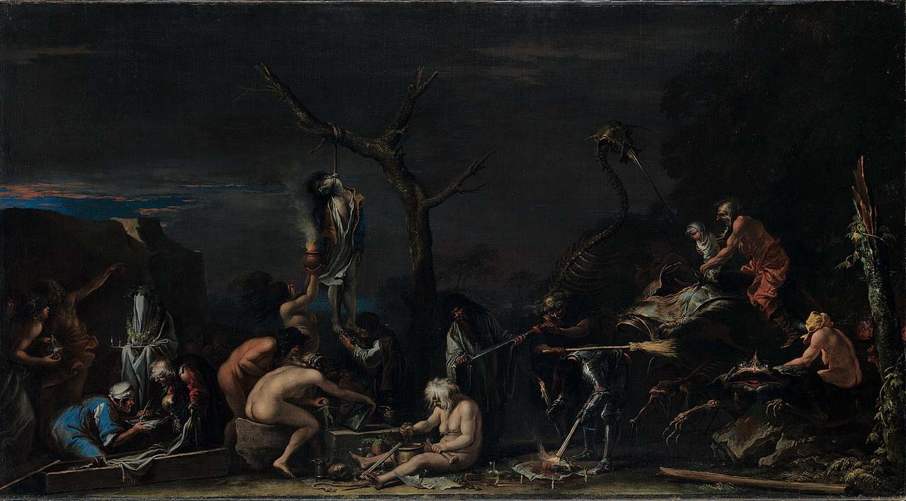 """Salvator Rosa, """"Witches at their Incantations"""" (1646) oil on canvas, 72.5 x 132.5 cm,The National Gallery London © The National Gallery, London. Bought, 1984"""