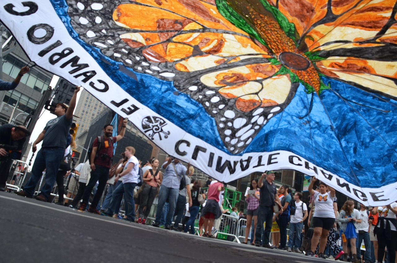 A banner by People's Climate Arts at the People's Climate March