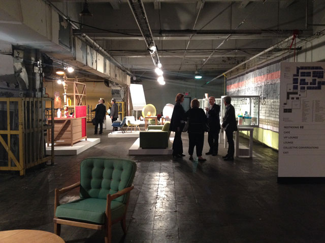 A presentation at the 2014 Collective Design fair (photo by Sarah Archer for Hyperallergic)