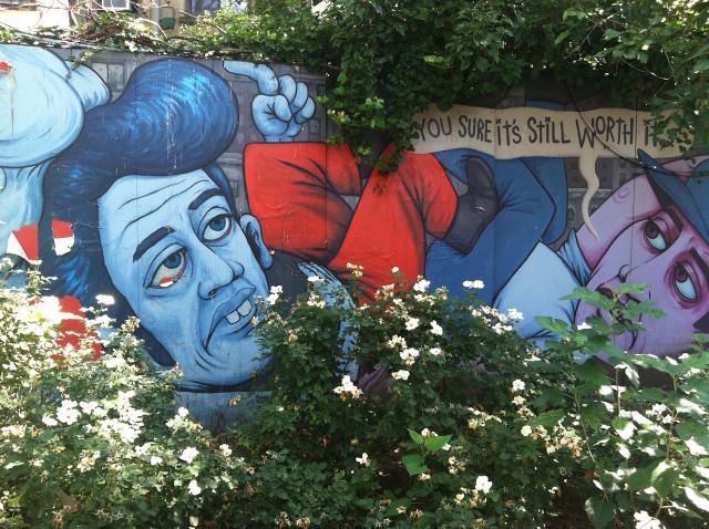 First Street Green mural by Adam Kidder Photo by Ann Shostrom