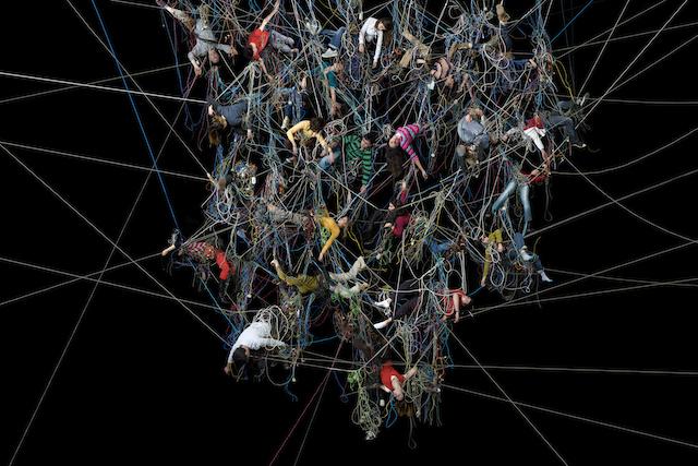 "Daniel Canogar, ""Enredos 1"" (2007). Kodak Endura photo mounted on aluminum."