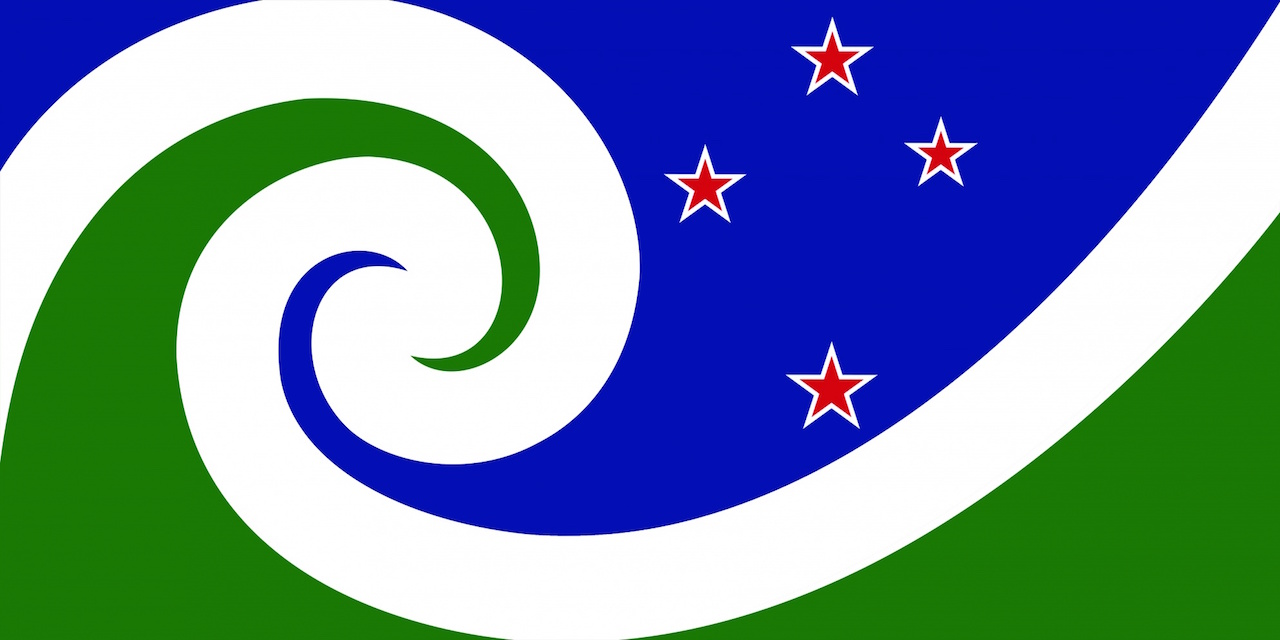 """""""Manawa (Blue & Green),"""" designed by Otis Frizzell from Auckland"""