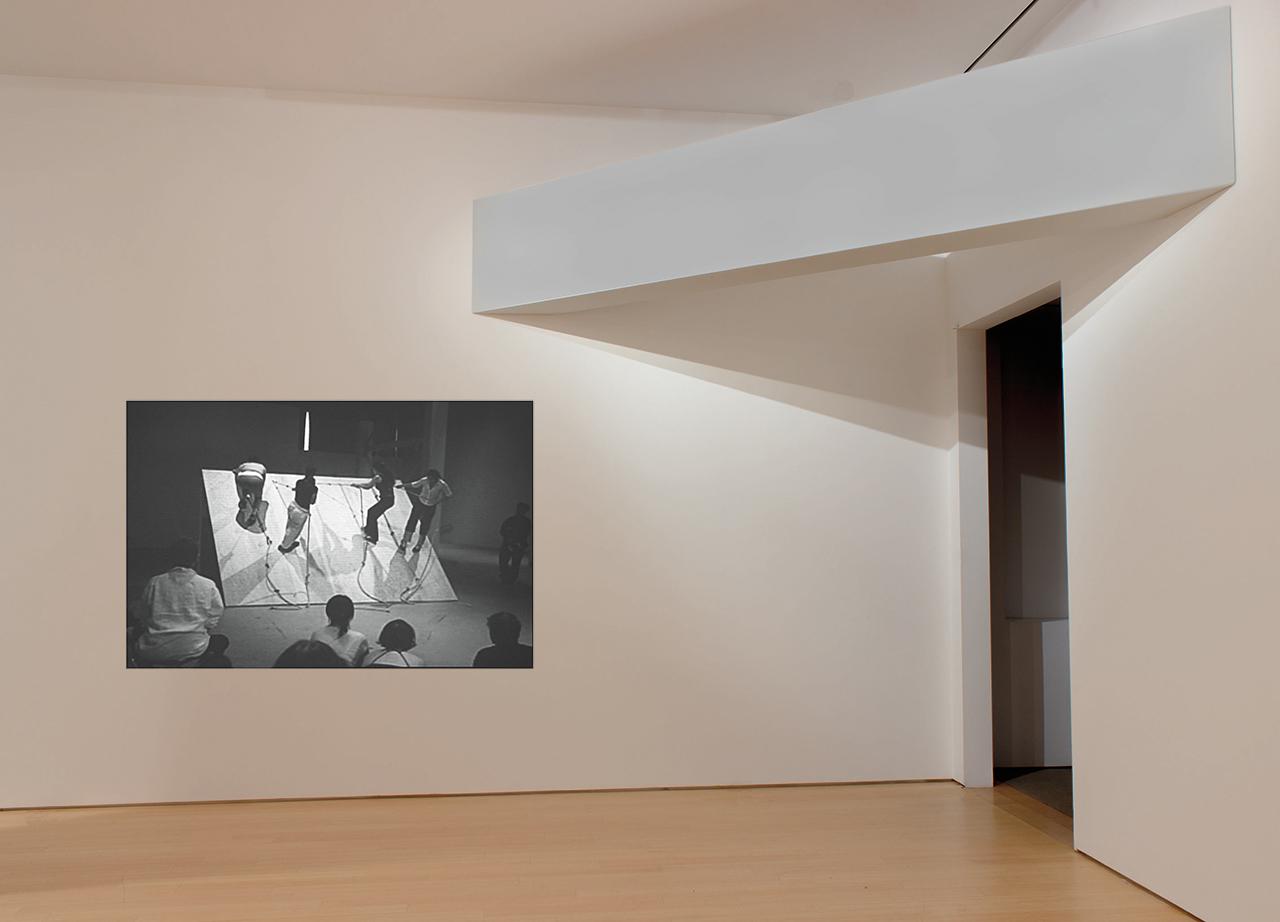 """Simone Forti's 'Slant Board' (1961) and Robert Morris's """"Corner Beam"""" (1964)"""