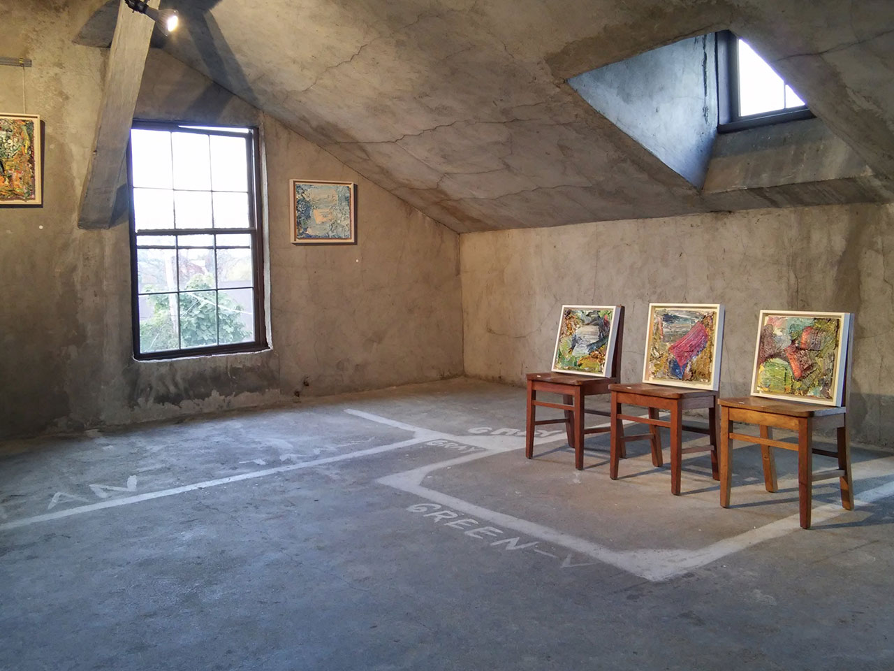 Installation view, 'Ying Li: Paintings' at John Davis Gallery (all photos by the author unless otherwise noted)