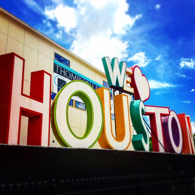 """The """"We Love Houston"""" sign (photo by @dn0rth85/Instagram)"""