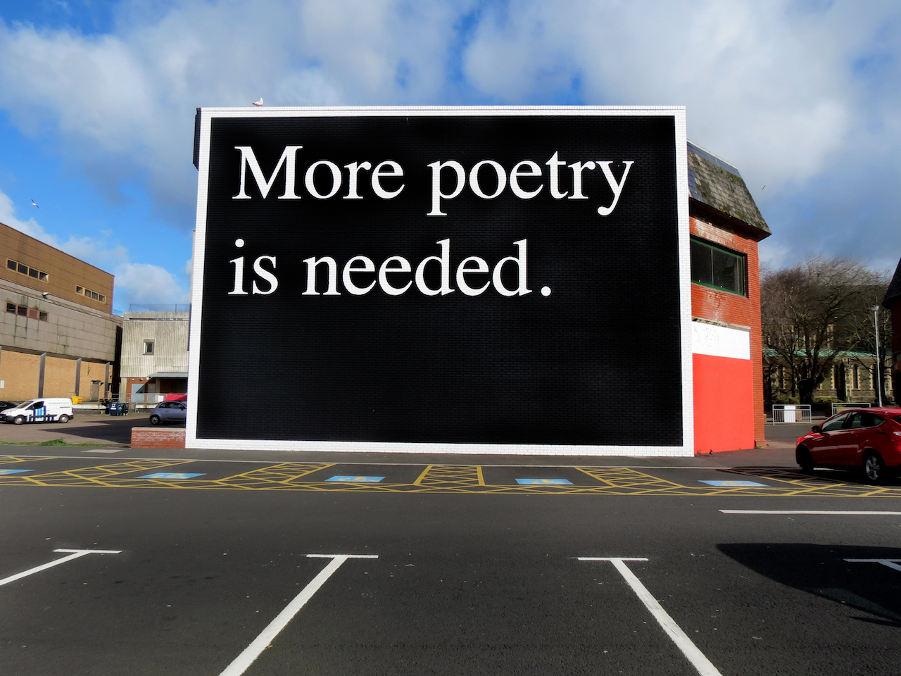 """Jeremy Deller, """"More Poetry Is Needed"""" (2015) (courtesy of the artist and The Modern Institute/Toby Webster Ltd, Glasgow)"""