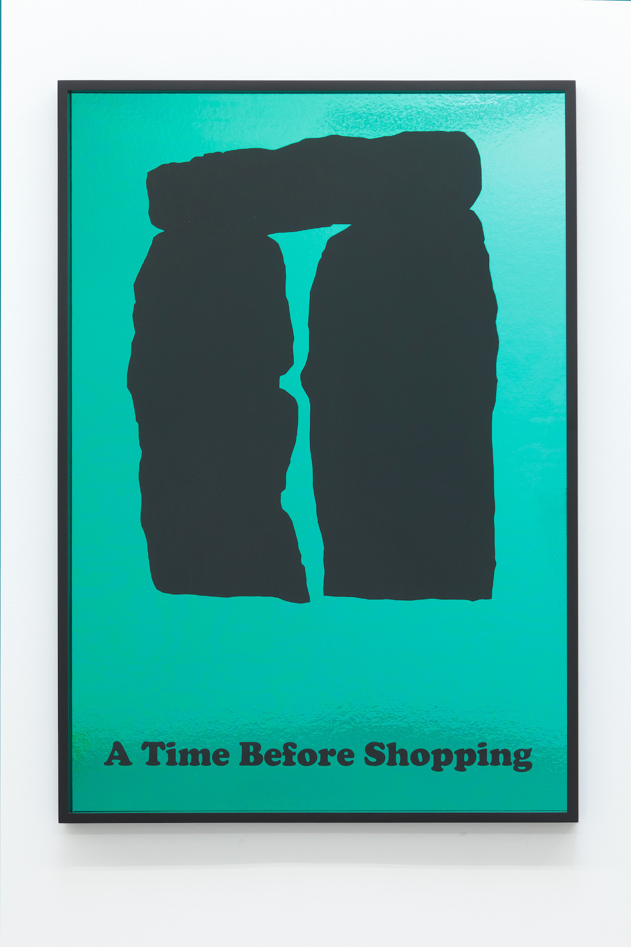 """Jeremy Deller, """"Time before shopping"""" from the series 'Posters' (2012) (photo by Thomas Mueller, courtesy the artist)"""
