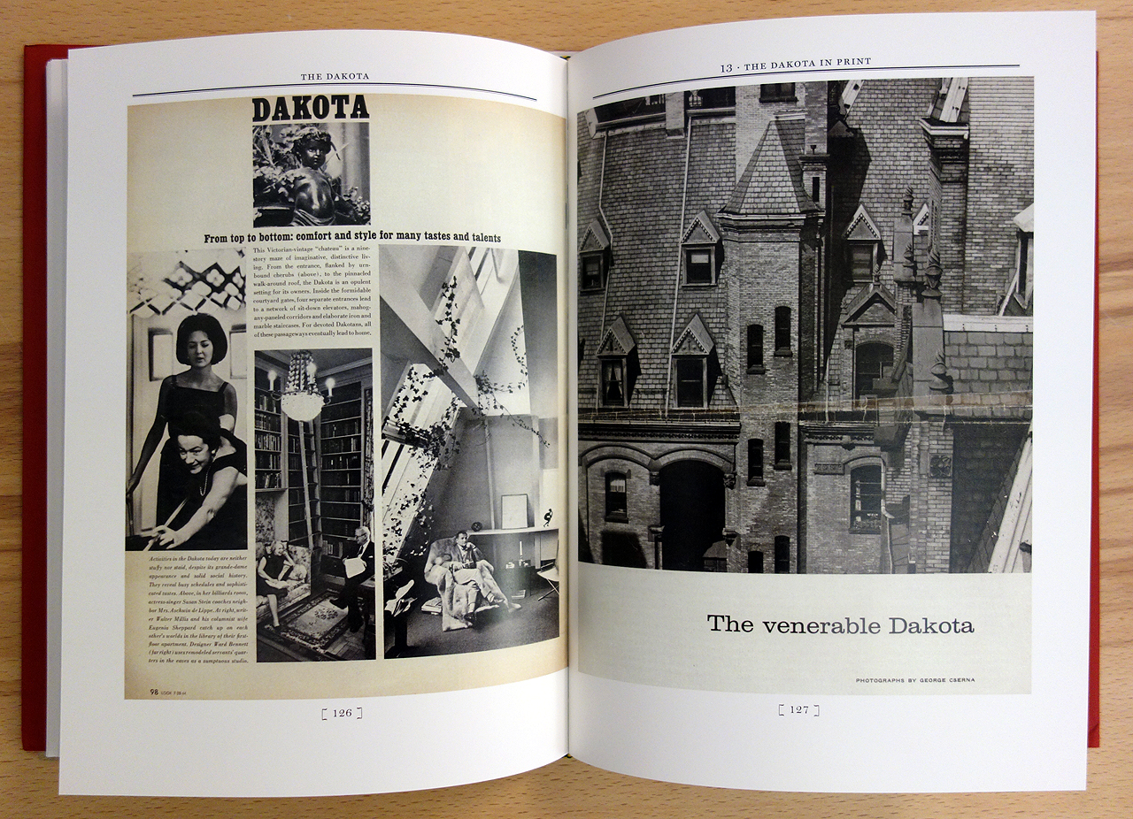 Pages from 'The Dakota: A History of the World's Best-Known Apartment Building' (photo of the book for Hyperallergic)