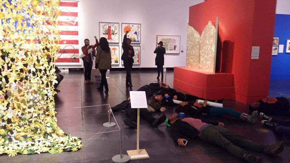 Die-In protest (photo courtesy of Tacoma Action Collective)