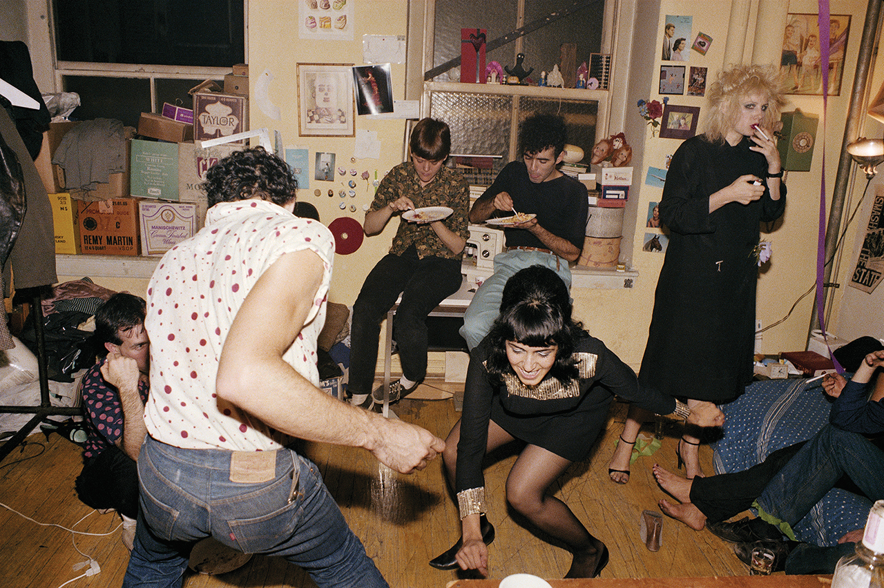 """Nan Goldin, """"Twisting at my birthday party, New York City 1980,"""" from 'The Ballad of Sexual Dependency' (Aperture 2012) (© Nan Goldin)"""