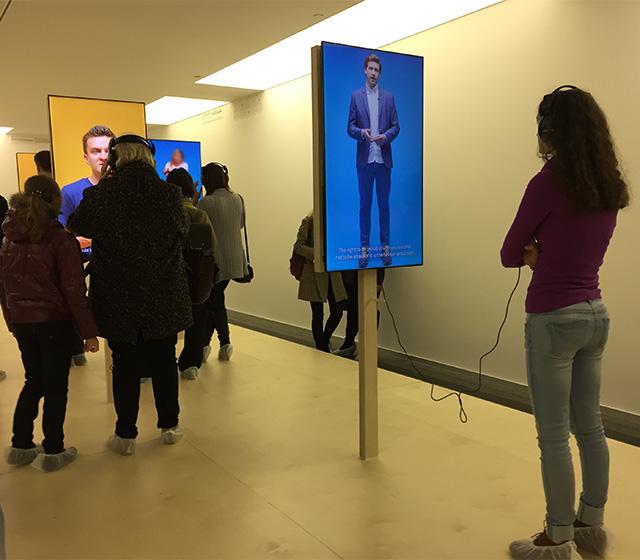 Carlos Motta: Patriots, Citizens, Lovers… at the Pinchuk Art Center (photo by Alpesh Patel/Hyperallergic)