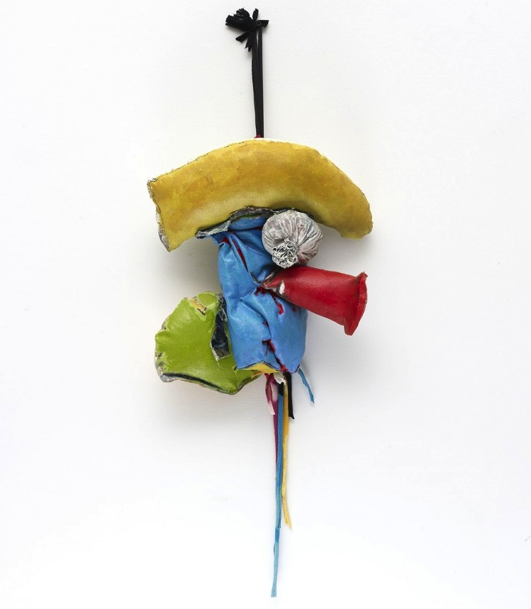 John Outterbridge, 'Rag and Bag Idiom III' (2012), Mixed media, 32 x 14 x 7 1/2 inches (Image courtesy of Tilton Gallery, New York, via artandpractice.org)