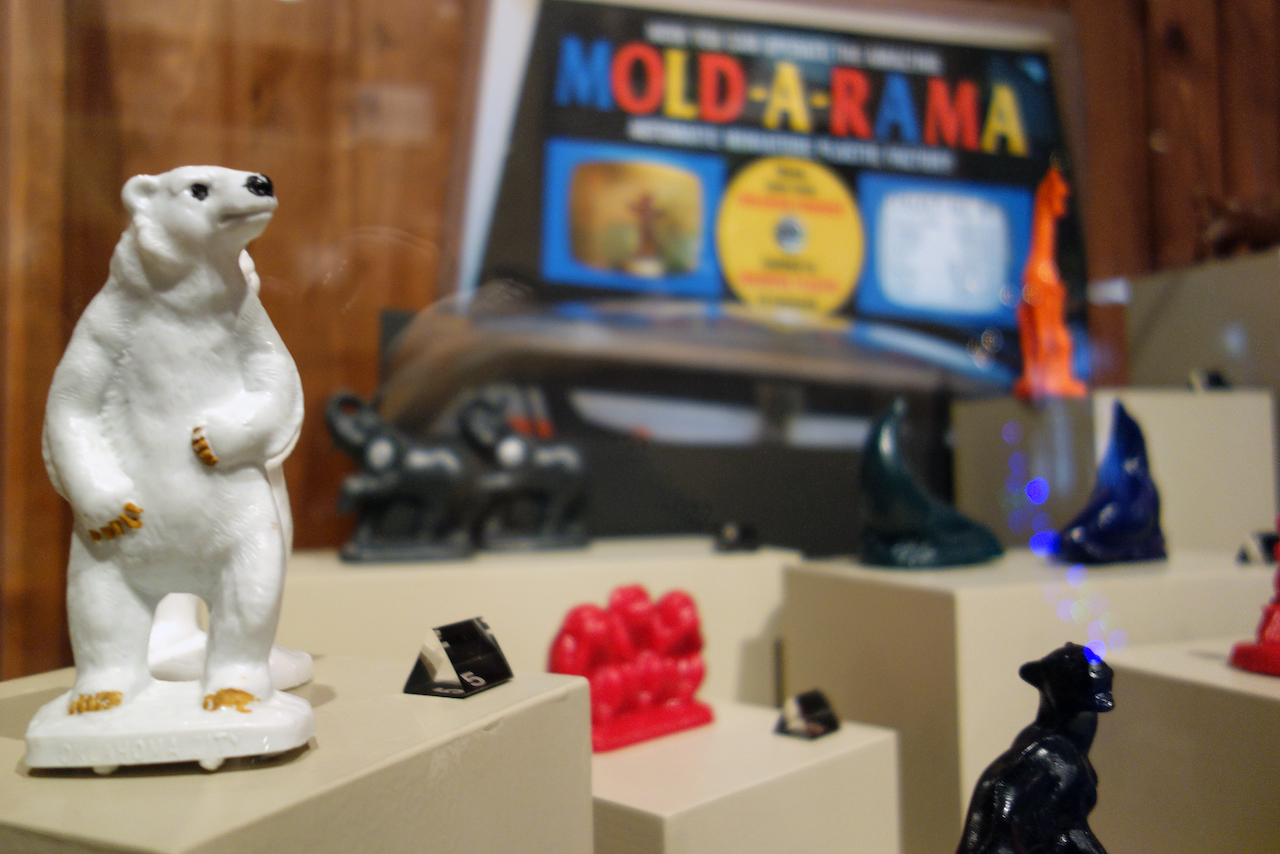 Mold-A-Rama display in the Zoozeum at the Oklahoma City Zoo