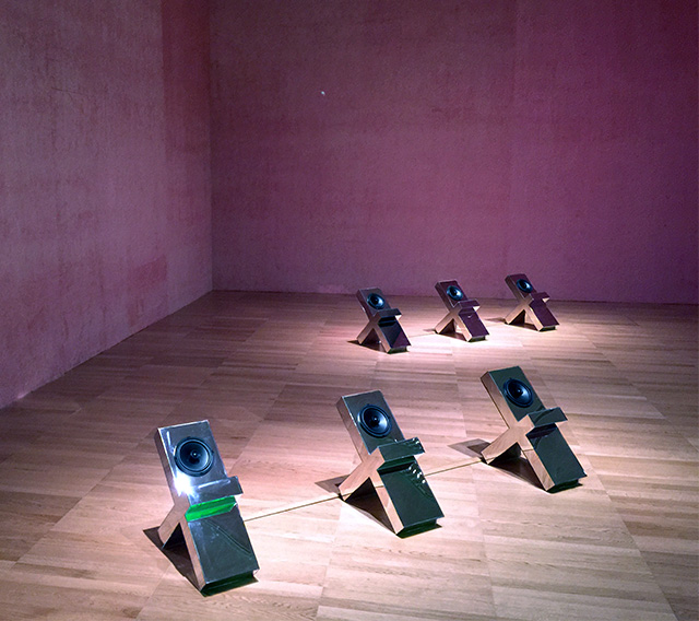 "A view of ""Mirror of Princes"" by Slavs and Tatars at the NYU Abu Dhabi Art Gallery, Abu Dhabi (photo by Hrag Vartanian/Hyperallergic)"