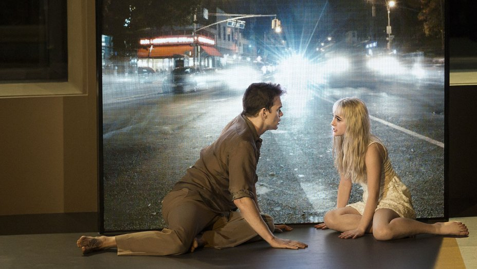 Michael C. Hall and Sophia Anne Caruso in 'Lazarus' (photo by Jan Versweyveld)
