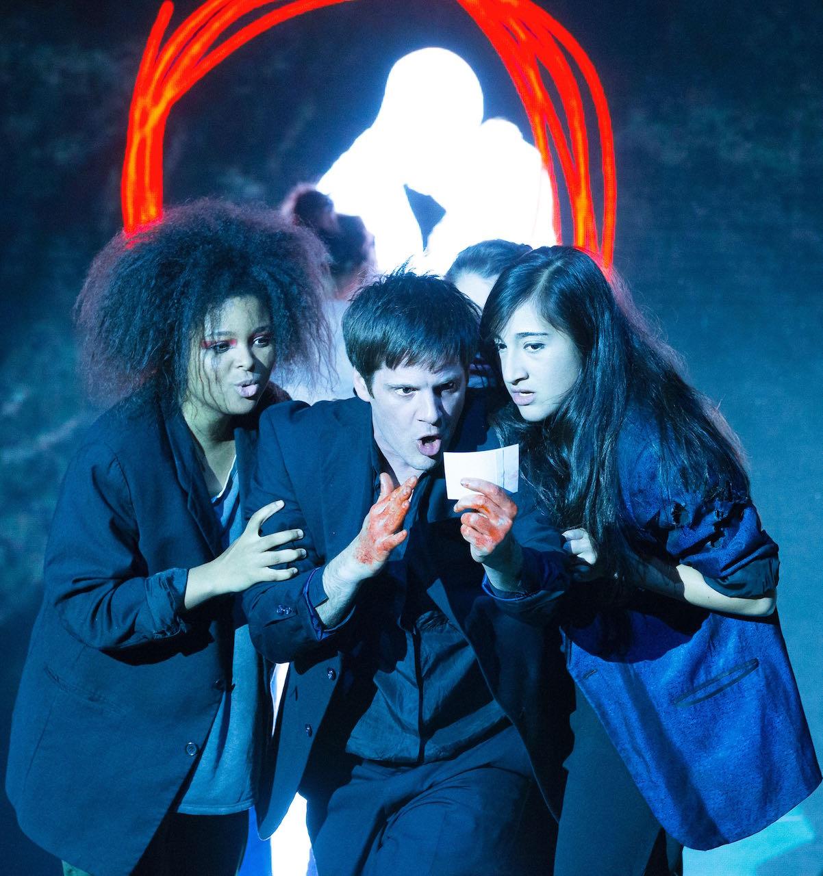 Brynn Williams, Michael Esper, and Krystina Alabado in 'Lazarus' (photo by Jan Versweyveld)