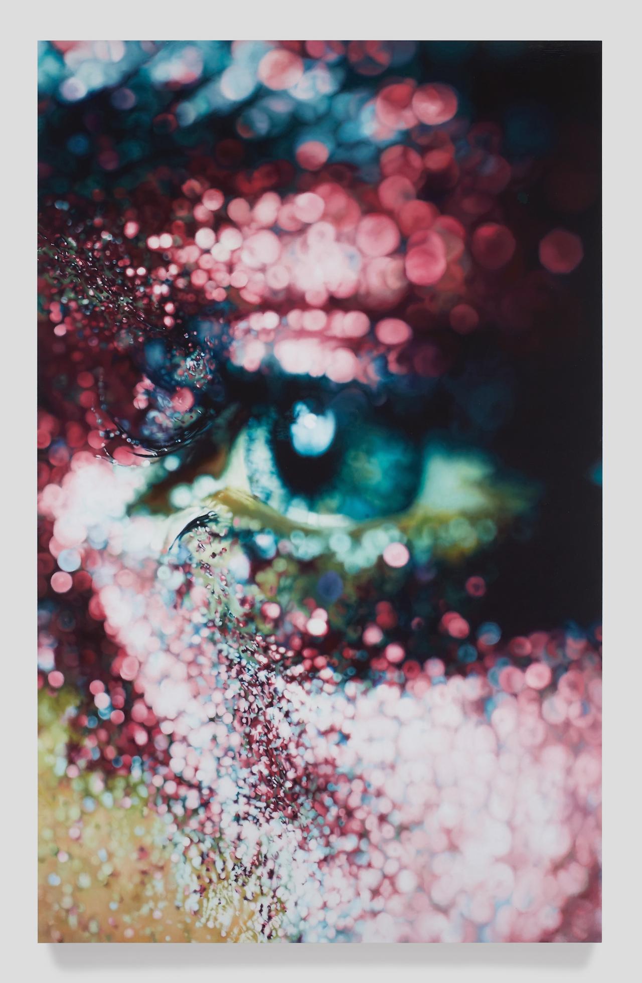 "Marilyn Minter, ""Glazed"" (2006), enamel on metal, 96 by 60 in. (collection of Jeanne Greenberg Rohatyn and Nicolas Rohatyn, New York)"