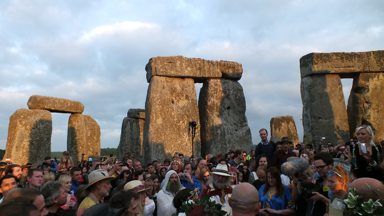 Stonehenge at the summer solstice in 2013 (photo by Lets Go Out Bournemouth and Poole/Flickr)