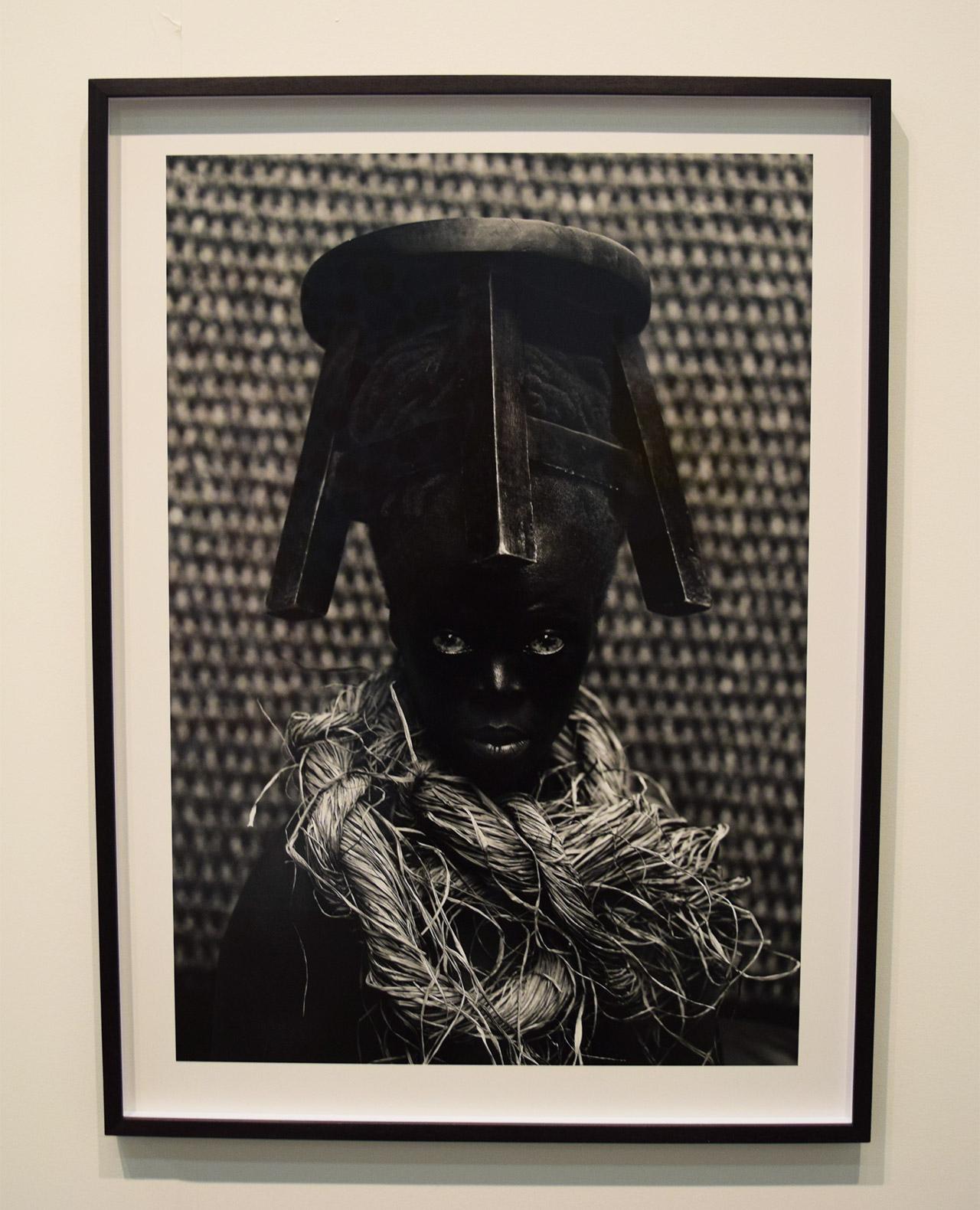 "Zanele Muholi, ""Sibusiso, Cagliari, Sardinia, Italy"" (2015) in the Stevenson Gallery booth at the 2016 Armory Show"