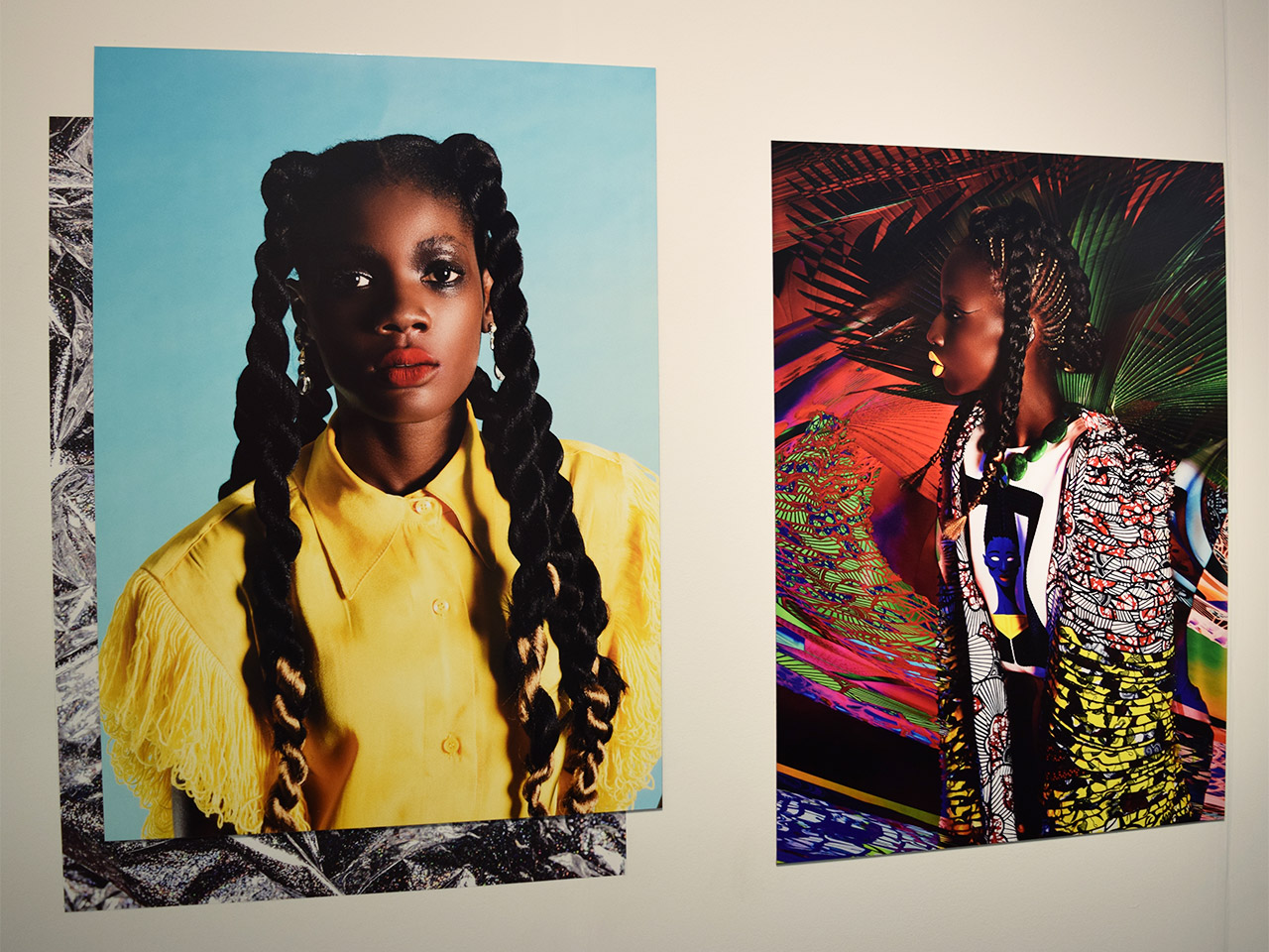Photos by Namsa Leuba in the Echo Art booth at the 2016 Armory Show
