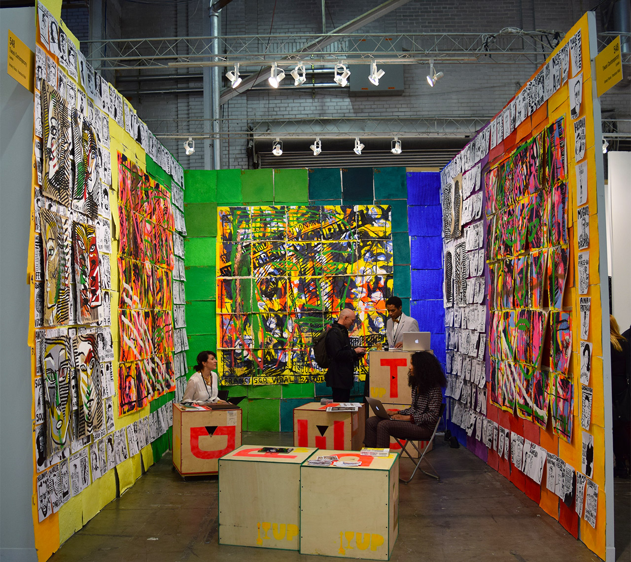 Francisco Vidal's installation in the Tiwani Contemporary booth at the 2016 Armory Show