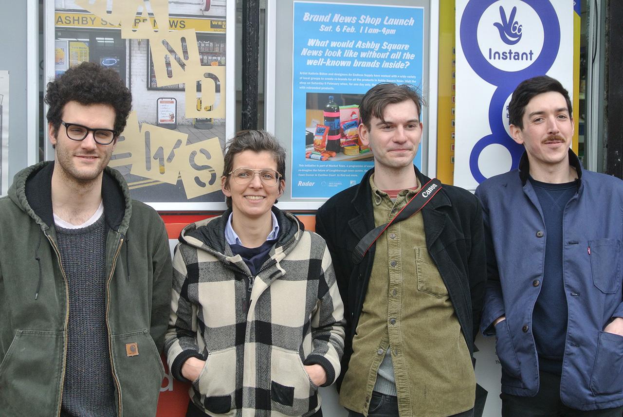 Left to right: Harry Blackett, Kathrin Böhm, project assistant Harvey Herman, Robin Kirkham