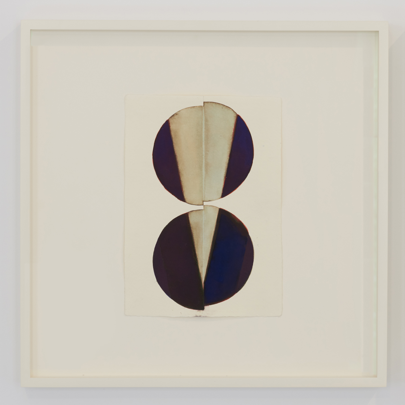 """Nathlie Provosty, """"Council, Untitled (15–52)"""" (2015), watercolor and walnut ink on paper, 8 x 6 in (courtesy Nathalie Karg Gallery)"""