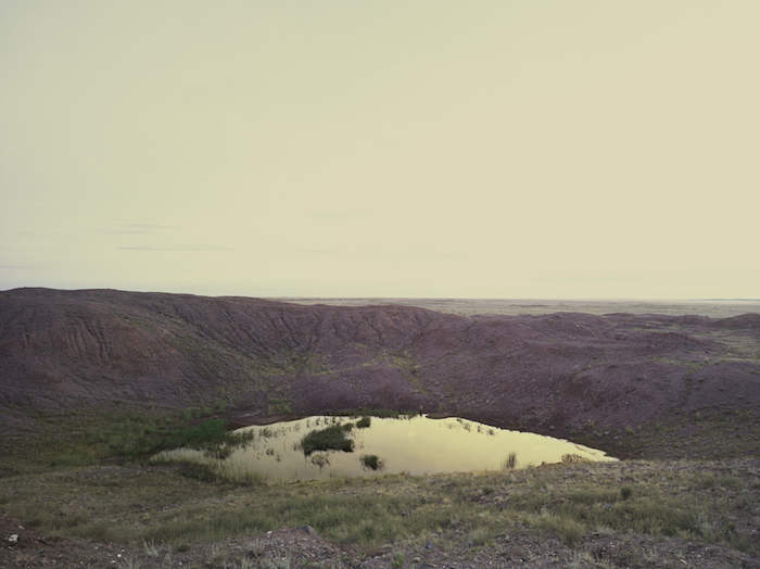 The Polygon Nuclear Test Site XI, (Wrinkled Crater), Kazakhstan 2011