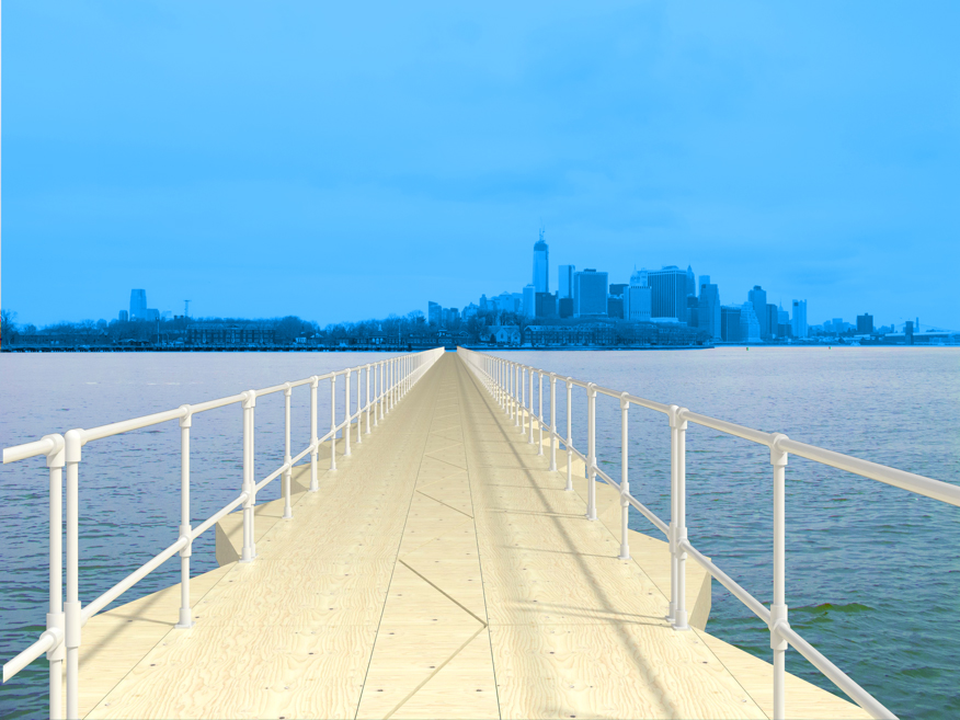 "A rendering of ""Citizen Bridge"" (all images courtesy Nancy Nowacek)"