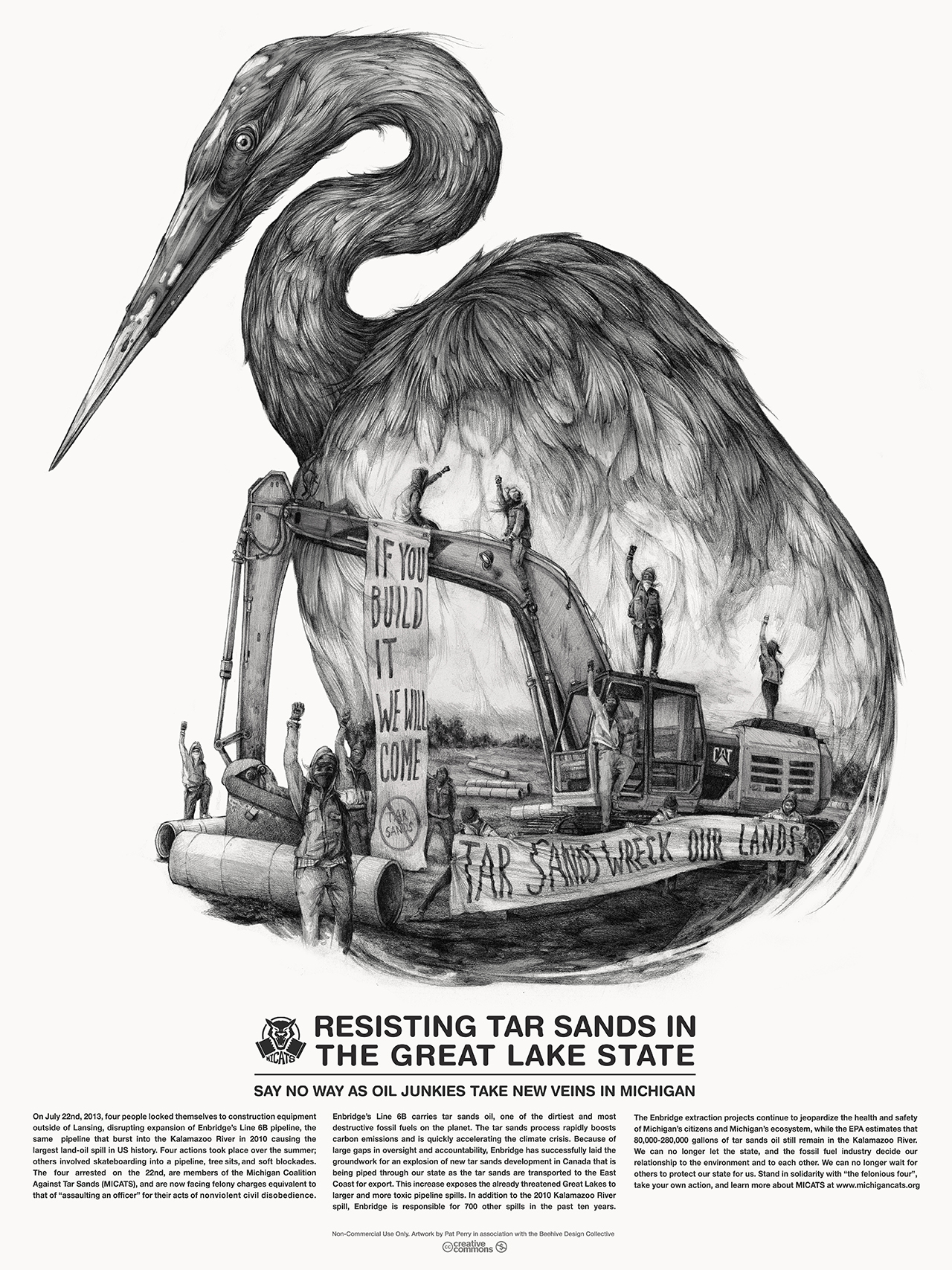 """""""Great Lakes Tar Sands Resistance,"""" Pat Perry, 2013 (Reproduced with permission from publisher)"""