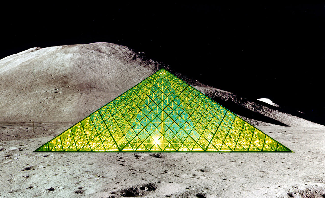 A rendering of the Louvre Lune (courtesy the Louvre)