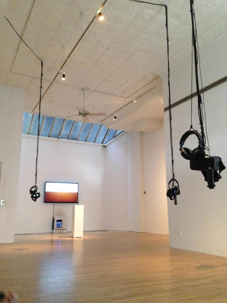'Space Between the Skies,' installation view (photograph by the author for Hyperallergic)
