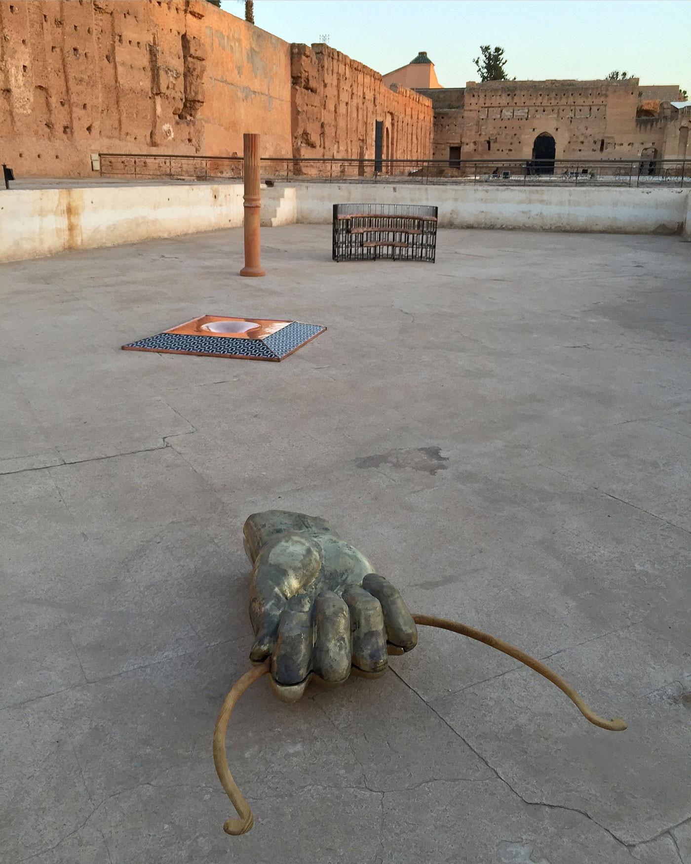 Haig Aivazian's sculptural group at El Badii Palace.