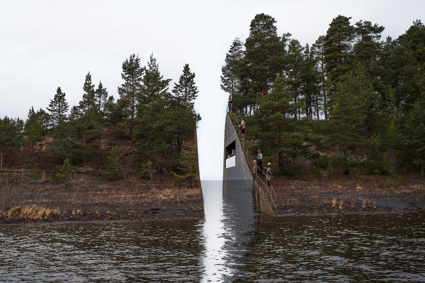 """Rendering of Jonas Dahlberg, """"22 July Memorial at Sørbråten"""" (all images courtesy Jonas Dahlberg Studio)"""