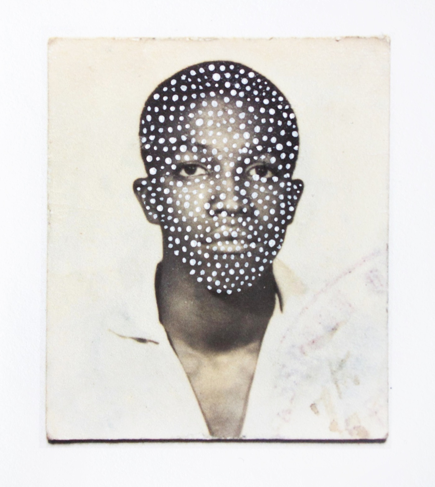 Keisha Scarville Untitled, from the Passport series, 2012 – 2016 Mixed media 2 1/4 x 2 1/4 in. Courtesy of the Artist