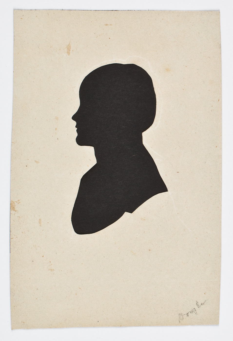 Silhouette of an unknown woman by William M. S. Doyle (before 1828) (courtesy American Antiquarian Society)
