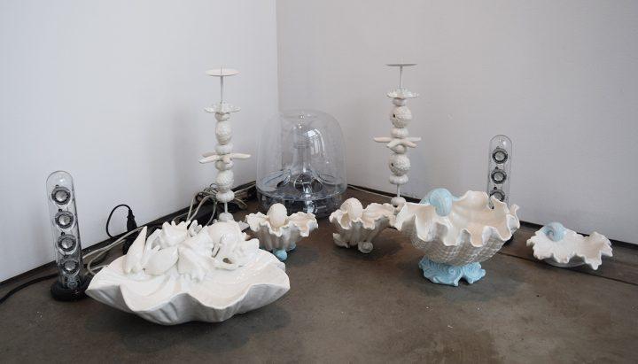 "Cosima von Bonin, ""GRANDVILLE AND THE DECISION AT GRANDVILLE II (WHITE PORCELAIN)"" (2011)"
