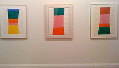A view of some of the works included in a recent Jack Bush show Wilkin curated at the New York Studio School.