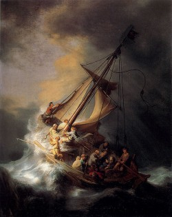 """Rembrandt's """"The Storm on the Sea of Galilee"""" (1633) was stolen from Boston's Gardner Museum in 1990 and it is still missing. (Creative Commons)"""