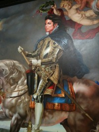 Kehinde Wiley's commissioned portrait of Michael Jackson at Deitch.