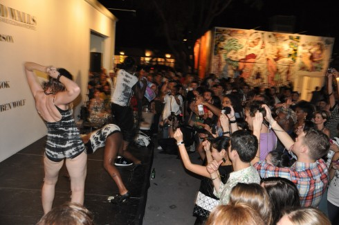 Big Freedia and his booty bouncers send the audience into a frenzy.